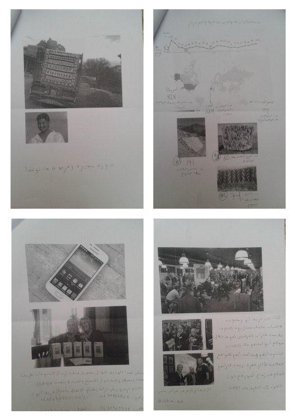 Pages from Anou's artisans newsletter.