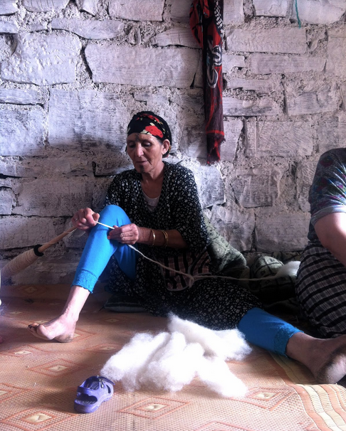 Cooperative Chorouk, Anou Community, Tounfite,  Moroccan Craft, Moroccan Artisans, Fatima Haddu, Flatweave, Hanbel, Fatima Haddu