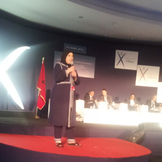 Rabha on the stage at X-Maroc!